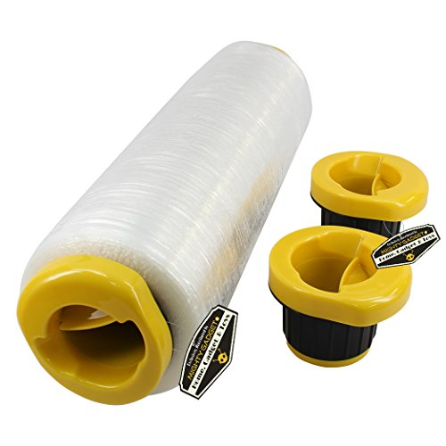 1 pair of Mighty Gadget (R) Hand Wrapping Stretch Wrap Dispensers - Fits any 3 inch Stretch Film Core
