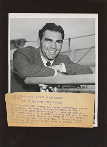 3f3d4371924 Original August 18 1937 Max Schmeling In New York Boxing Wire Photo ...
