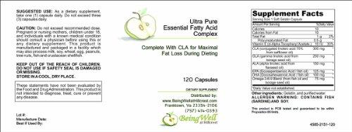 Ультра-чистый Незаменимые жирные кислоты комплекса комплекте с CLA для максимальных Fat Loss во время диеты (120 мягкие гели)