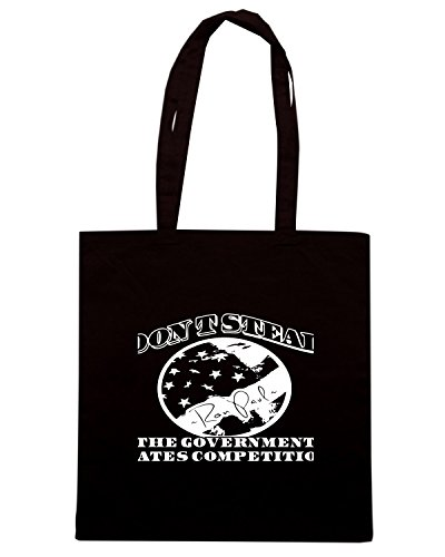 T-Shirtshock - Bolsa para la compra TM0629 dont steal the government hates competition Negro