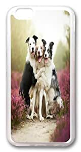 iPhone 6 plus Case and Cover -Funny Dog Friends TPU Silicone Rubber Case Cover for iPhone 6 plus and iphone 6 plus 5.5 inch Transparent
