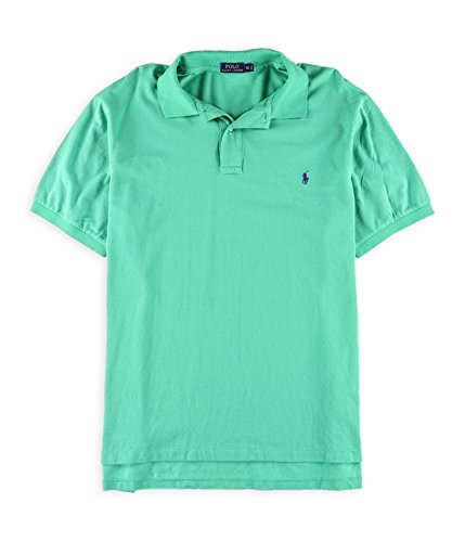 Polo Ralph Lauren Mens Big & Tall Signature Waffle Knit Polo Shirt Green 3XB (Knit Polo Waffle)