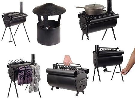 TMS - Estufa/Cocina de leña para Camping (Acero): Amazon.es ...