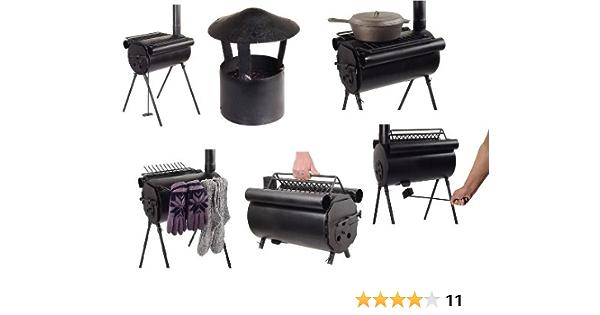 TMS - Estufa/Cocina de leña para Camping (Acero): Amazon ...