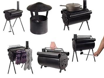 TMS - Estufa / cocina de leña para camping (acero): Amazon.es: Deportes y aire libre