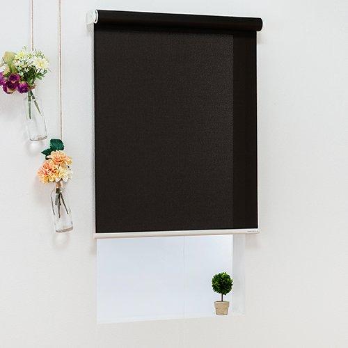オーダーロールスクリーン(ブラック)/ベーシックタイプ/ 様々なテイストのカラーをラインナップ/日本製/高品質【幅90cm 丈30cm】 B07CZ7CRXZ 幅90cmx丈30cm