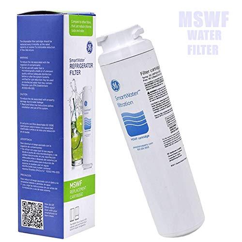 GE SmartWater Refrigerator Filter MSWF Replacement Cartridge, General Electric Fridge Water Filter, 1-Pack.