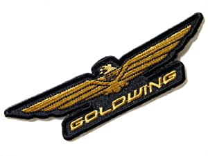 """Goldwing Chopper Motorrad Shirt Embroidered Sew iron on Patch Dimensions:Size 5""""Width x 1.25""""Height Sold SSLINK"""