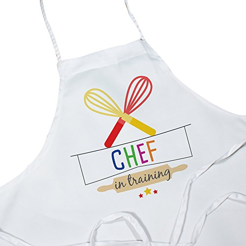 (GiftsForYouNow Colorful Chef in Training Kids Apron)