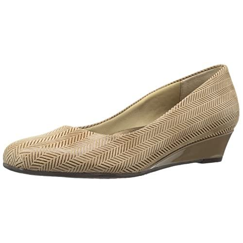 Trotters Women's Lauren Dress Wedge,Taupe,10.5 M US