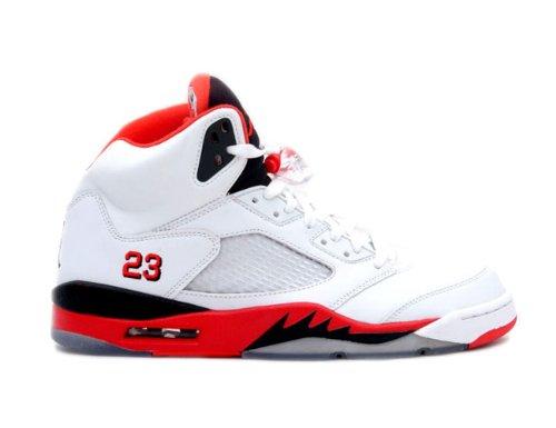 Nike Jordan 5 Retro White/Fire Red Kids (TD) Toddler 440890-120 (SIZE: 5.5)