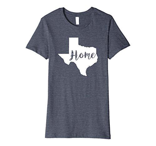 Womens Texas the lone star state home tee shirt script Premium XL Heather (West Texas State Football)