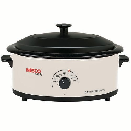 Nesco 4816-14-30 Roaster Oven with Nonstick Cookwell, 6-Quart, White (Non Stick Roaster Oven)