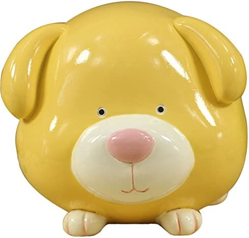 Yellow ZCHING Ceramic Pig Piggy Bank Savings Coin Banks Personalized Nursery Decor for Kids Baby Girl Gift