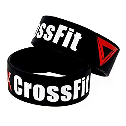 CWLLWC Silicone Bracelet Silicone Wristbands with Sayings The Box Crossfit Rubber Wristbands for Men and Kids Set Pieces Estimated Price £27.99 -