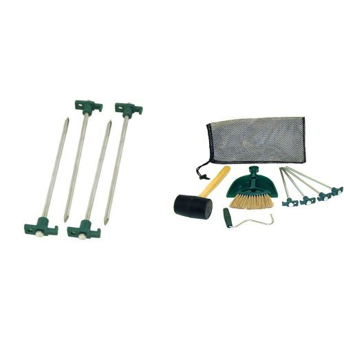 Coleman 10-In. Steel Nail Tent Pegs, 4 Count and Coleman Tent Kit Bundle
