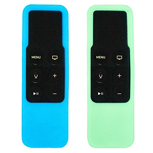 Glow Remote - Soetta - Apple TV Remote Cases - Glow in the Dark - Blue & Green - 2 Pack