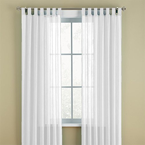 White Tab Top Curtains: Amazon.com