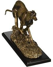 Design Toscano Greyhound Whippet Art Deco Dog Statue, Bronze