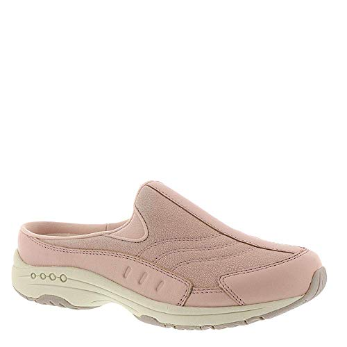 Easy Spirit Womens Traveltime Leather Low Top Slip On, Rose-Smoke-Pink, Size 9.0