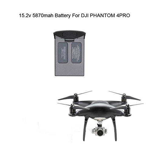 Battery for DJI Phantom 4 Pro,For DJI Phantom 4 Pro/Pro+ Drone (Obsidian) Intelligent Flight Battery QuadCopter Drone DJI Phantom 4 Pro 30-minutes flight time Intelligent Battery by ABCsell by abcsell