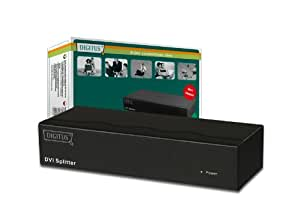 Digitus DVI splitter DVI - Splitter de vídeo (DVI, DVI-I FM, 1600 x 1200 Pixeles, Negro, 104 x 269 x 42 mm)