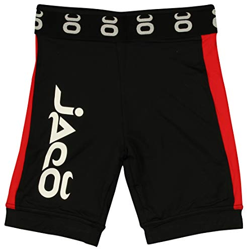(Jaco Vale Tudo Fight Shorts Long Black/Red XLarge)