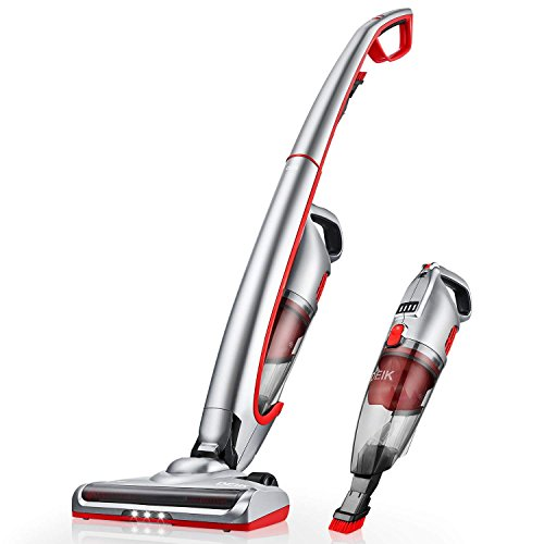 Deik Vacuum Cleaner, 2 in 1 Cordless Vacuum Cleaner, Cordless Vacuum with High-power and Long-lasting, Rechargeable Lithium Ion Lightweight Stick Vacuum Cleaner by Deik
