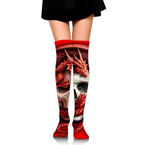 OFFWAYA Men Women Skull Tattoo Winter Warm Cozy Cotton Socks,Funky Colorful Dress Socks Christmas Socks Holiday Stockings Slipper -