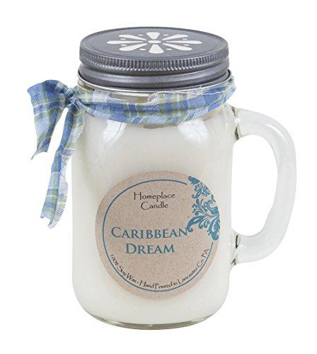16 oz. - Caribbean Dream - LG Mason Jar Mug - 100% Soy Candle