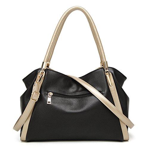Bolsos De Moda Para Mujer Bolso De Hombro De Alta Capacidad Simple,Burgundy Black