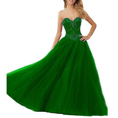 Tulle Partito Ballo Ragazze Con Ha Sposa Da L'innamorato Quinceanera Di Verde Abito Bordato Bellezza 0v0qUw7