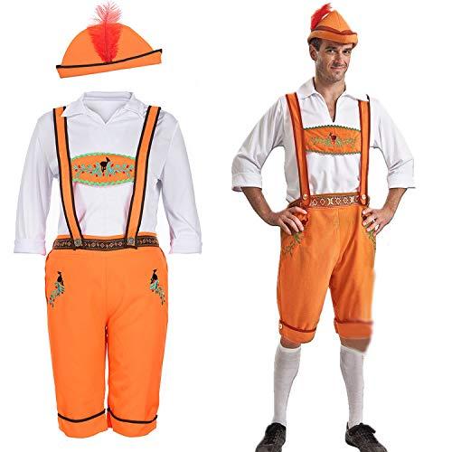 (Simmia Halloween Costumes Halloween Costumes German Oktoberfest Clothing Khaki Beer Suit, Men's Models, XL)
