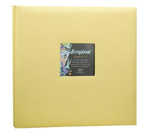 Scrapbook 12x12 Album decorative Fabric DIY, Holds 20 Pages, Window Frame Cover Postbound 12x12 Fabric Scrapbook Album