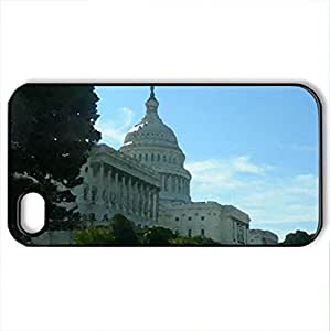 The US Capitol Building - Case Cover for iPhone 4 and 4s (Monuments Series, Watercolor style, Black)
