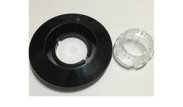 Para Hamilton Beach, frasco de licuadora negro con tapa de goma para tarros de plástico: Amazon.es: Hogar