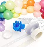 Strong Balloon Arch Garland Decorating Strip Kit with Instructions, Reusable Balloon Tape Strip 16ft, Tying tool, Dot Glue, String. Super Easy to Make New Style Balloon Arch Garland (Balloon Arch Kit)
