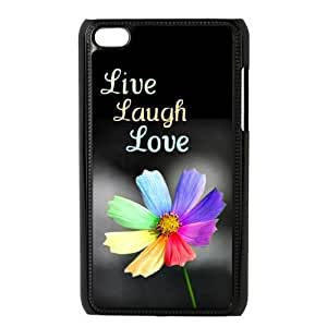 Custom Your Own Cute Quote Pattern Live Laugh Love Ipod Touch 4 Case , Best Durable Live Laugh Love Ipod 4 Case