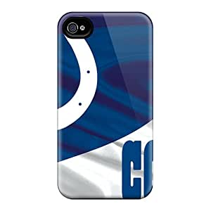 Protector Cell-phone Hard Cover For Iphone 4/4s (miP3770tgTh) Allow Personal Design Nice Indianapolis Colts Pictures