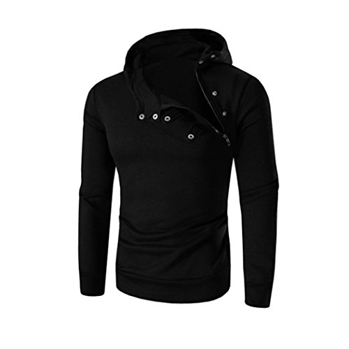 OverDose Outwear la La tapas los larga hombres de la las sudadera de manga con la de retro de Negro chaqueta capucha de chaqueta 11zwr