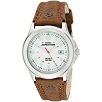 Men's T44381 Expedition Metal Field Brown Leather Strap Watch