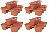 Bloem MRP421-46 Milano Rail Planters, Terra Cotta, 21'' (4-Piece) (4 X Pack of 4)