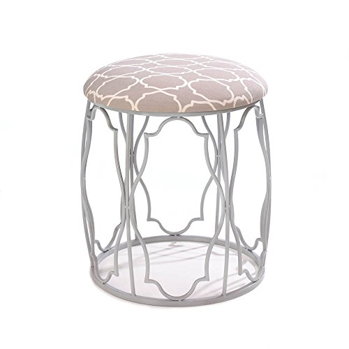 Morroccan-Style Stool with Metal Frame by Accent Plus