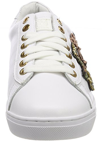 Colors of California Damen New Sole Sneaker in Nappa With Lateral Weiß (White)