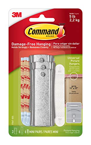 Framed Canvas Iii (Command Universal Picture Hangers w/Stabilizer Strips, 3-Hangers (17047-3ES))