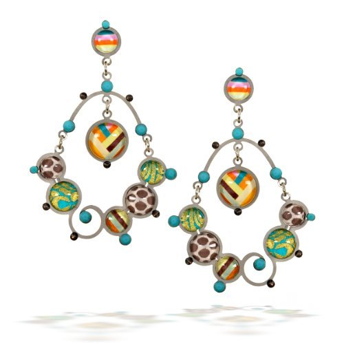 Acapulco Fashion Earrings in Turquoise, Gold and Earth Tones from The Artazia Collection - E2105 by The Artazia Collection