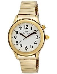 Women's Talking Gold-Tone Day Date Alarm Expansion Bracelet Watch # GWC08GT