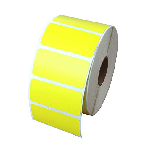 Zebra Compatible 56001 Yellow Labels, 2in x 1in - 1280 Labels Per Roll