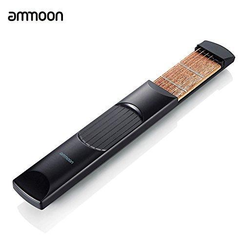 ammoon Portable Pocket Acoustic Guitar Practice Tool Gadget Chord Trainer 6 String 6 Fret Model for Beginner