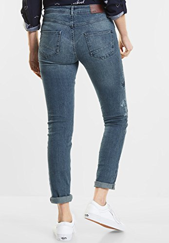 Cecil Damen Slim Jeans light blue used wash (blau) THNMr1OLTo
